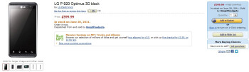 Amazon UK has the LG Optimus 3D listed with an expected release date of June 20
