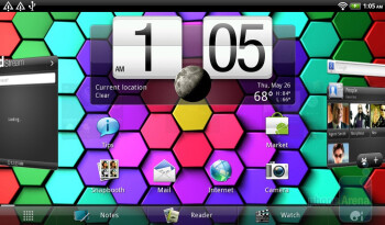 Clicking on the digital clock widget runs the dedicated clock app