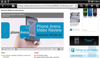 The web browsing experience is more than satisfactory thanks to its Flash support