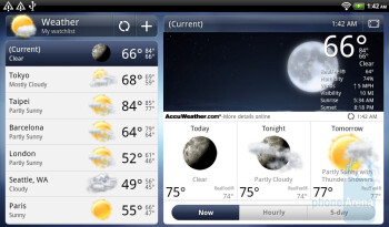 The weather widget will launch the dedicated app