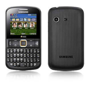 samsung ch t 222 is a dual sim capable messaging phone. Black Bedroom Furniture Sets. Home Design Ideas