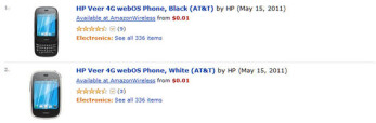 HP Veer 4G gets an aggressive one cent pricing courtesy of Amazon