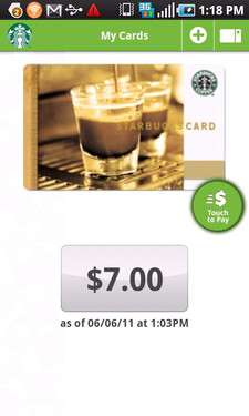 Starbucks app now percolating in the Android Market