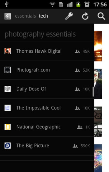 Feedly comes with preconfigured RSS feed sources