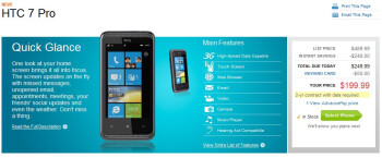 Cellular South grabs the HTC 7 Pro as well; priced at $200 with a contract