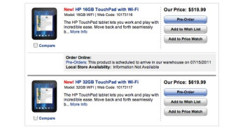 The HP TouchPad can now be pre-ordered in the U.S.  and Canada