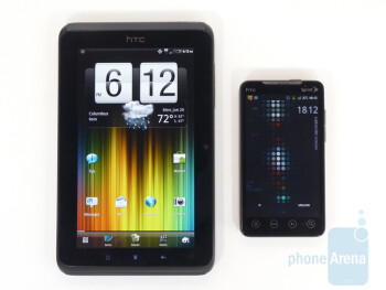 "With HTC EVO 4G - The HTC  EVO View 4G is a 7"" Android 2.3 tablet"