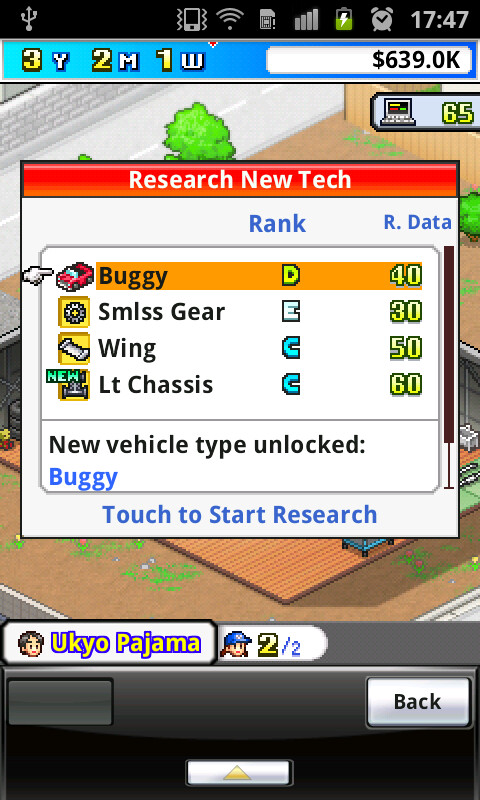 Researching new parts and replacing old ones boosts your car's performance - Grand Prix Story for Android Review
