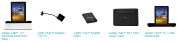 Samsung unveils a suite of accessories for the Galaxy Tab 10.1