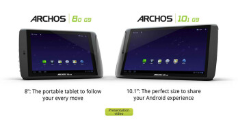 "Archos 8"" & 10.1"" G9 Honeycomb tablets priced at $279 & $349; coming in September"