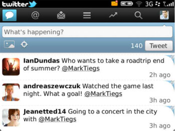 Update for Twitter for BlackBerry v2.0 Beta adds support for trending topics & more