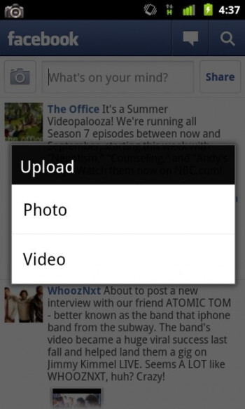 Video Upload is now  on Facebook for Android