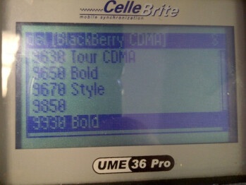 The BlackBerry Bold 9930 and the BlackBerry Torch 9850 are both now on the CelleBrite System
