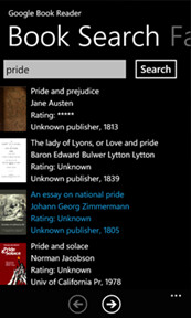 Google Books gets unofficial app for WP7