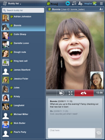 Fring scales up its 4-way video chat app for the iPad screen, no need for Facetime now