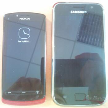 The Nokia Zeta alongside the Samsung Galaxy S