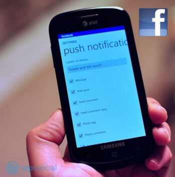 Facebook for Windows Phone gets push notifications in version 2.0, available now