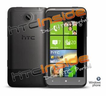 HTC Eternity leaked out with the biggest display on a smartphone, 1.5GHz powering Windows Phone Mango
