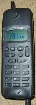 Nokia 1011 - the world's first mass-produced GSM cellphone