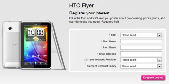 T-Mobile UK is expecting to land the HTC Flyer some time this month