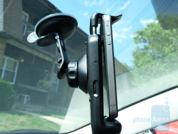 Magellan's Premium Car Kit for iPhone enhances the RoadMate app's experience