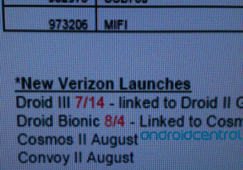 Leaked screenshot indicates an August 4 launch date for the Motorola DROID BIONIC