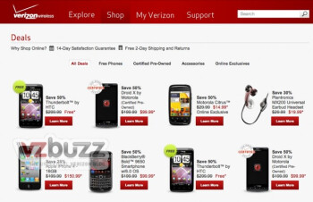 This leaked screenshot of the revamoed Verizon website shows some great deals are coming to Big Red's customers