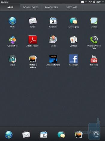 The app panel