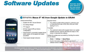 Nexus S 4G getting OTA update to fix WiMAX radio issues