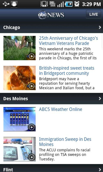 ABC News app is now available in the Android Market