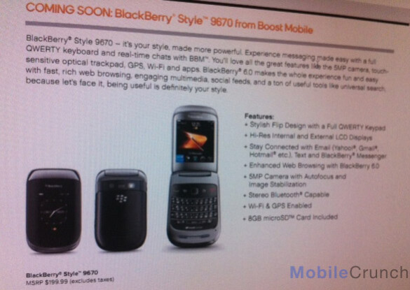 The BlackBerry Style 9670 is coming to Boost Mobile - Boost Mobile getting some Style with the BlackBerry 9670