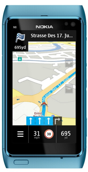 Nokia Maps 3.08 on the Nokia N8