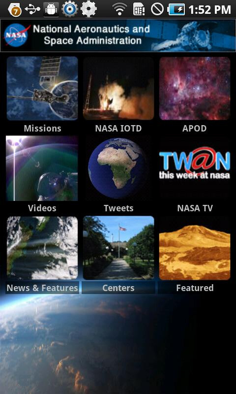 Official NASA app lands in the Android Market