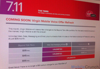 Later this month, Virgin Mobile is expected to start this new, revised pricing schedule