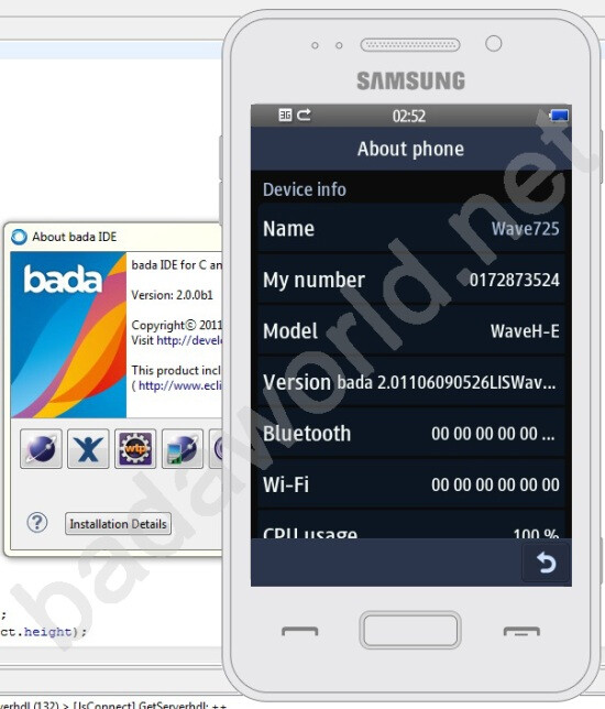 Samsung Wave 725 leaks out of the bada 2 0 SDK - PhoneArena