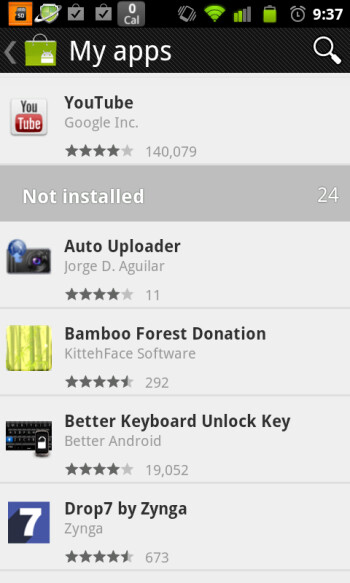 Hands-on with the new Android Market (w/APK installer)