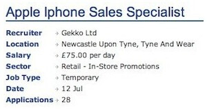 This job ad hints at an August 21st launch of the Apple iPhone 5, at least in the U.K.