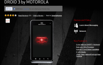 After a week of online sales, the Motorola DROID 3 is now available at Verizon stores