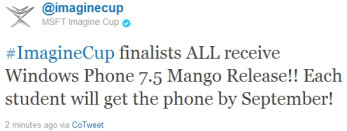Windows Phone Mango likely to be ready in September, Microsoft aims for 100 million annual sales