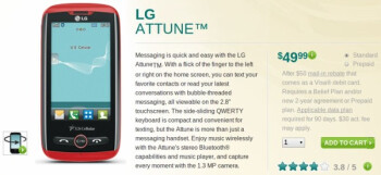 LG Cosmos Touch is rebranded to the LG Attune for US Cellular - available now for $50