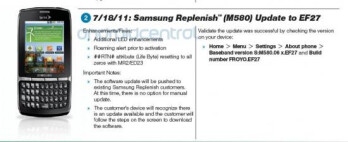 EF27 software update brings along some enhancements to the Samsung Replenish