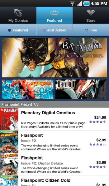 DC Comics Android app arrives on the scene in time for Comic-Con 2011