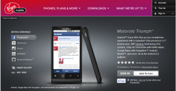 Virgin Mobile US is now offering the Motorola Triumph