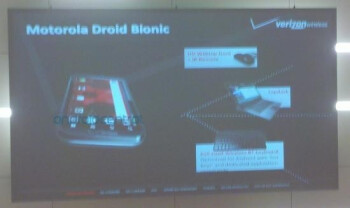 This blurry slide allegedly from Verizon's earnings call shows three accessories for the Motorola DROID Bionic