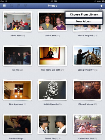 Facebook for iPad: it's here, kind of