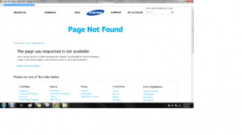 Click on the link to the Samsung Galaxy S II's sign up page (L) and the site is not yet up (R)
