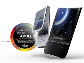 Samsung Galaxy Skin concept combines flexible AMOLED display with bendable batteries for twisted fun