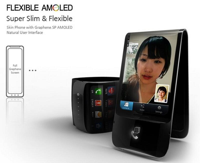 Samsung Galaxy Skin concept combines flexible AMOLED ...