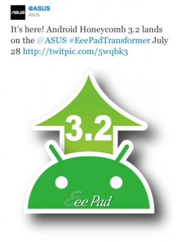 Asus confirms that Android 3.2 is coming to the Eee Pad Transformer tomorrow