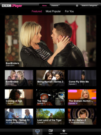 BBC iPlayer for the iPad